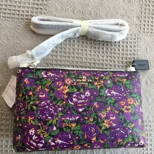 Coach Lyla Crossbody Rose Meadow Violet Floral Bag